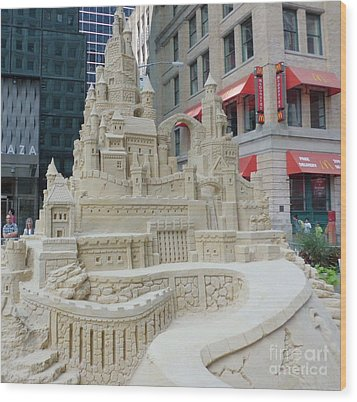 Sand Castle Wood Print by James Dolan
