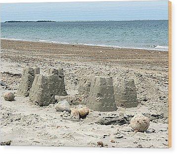 Sand Castle Wood Print by Janice Drew