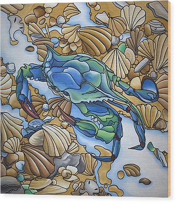 Blue Sally  Wood Print by William Love