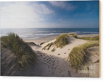 Sand Dune Wood Print by Boon Mee