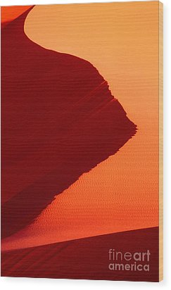 Wood Print featuring the photograph Sand Dune Curves Coral Pink Sand Dunes Arizona by Dave Welling