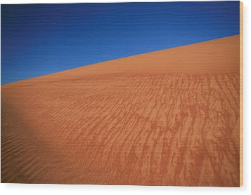 Sand Dune Wood Print by Shari Mattox