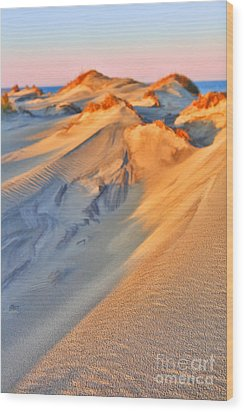 Sand Dune Sunset - Outer Banks Wood Print by Dan Carmichael