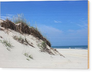 Sand Dunes Of Corolla Outer Banks Obx Wood Print by Design Turnpike