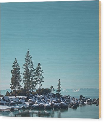 Sand Harbor-lake Tahoe Wood Print by Kim Hojnacki