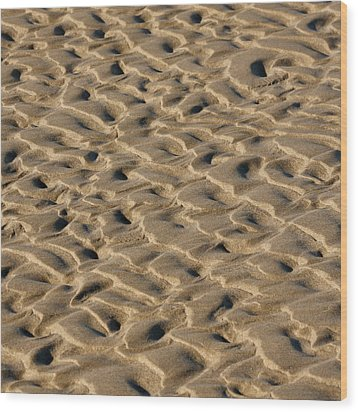 Sand Patterns Wood Print by Art Block Collections