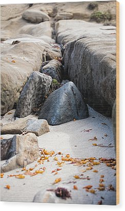 Sand Pyramids Wood Print by Peter Tellone