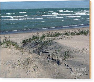 Sand Ripples 2 Wood Print by Cedric Hampton