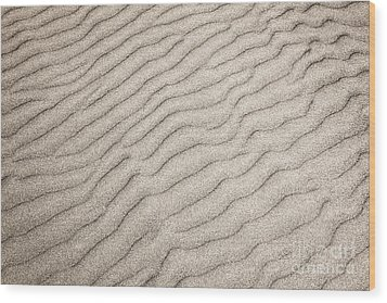 Sand Ripples Natural Abstract Wood Print by Elena Elisseeva