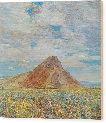 Sand Springs Butte Wood Print by Childe Hassam