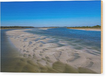 Sandbars On The Fort George River Wood Print