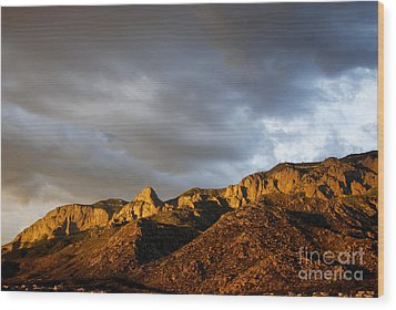 Wood Print featuring the photograph Sandia Mountains by Gina Savage