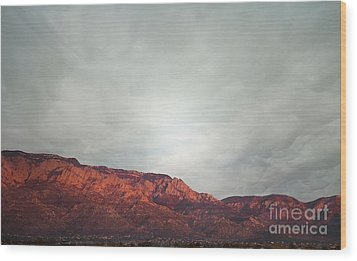 Sandia Watermelon Mountain Wood Print by Andrea Hazel Ihlefeld