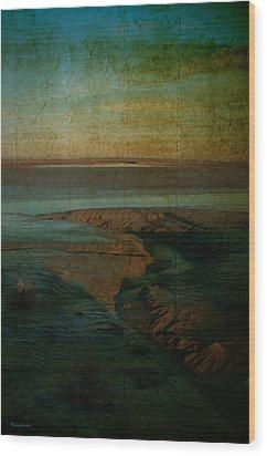 Sands At Mount St Michael Wood Print