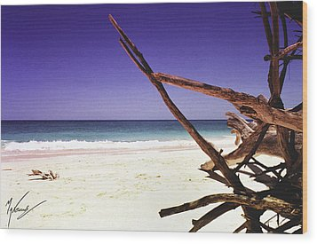 Sands Of Barbados Wood Print by Max CALLENDER