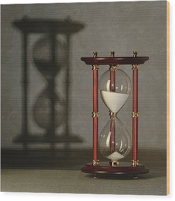 Sands Of Time Wood Print by Phil Cohen