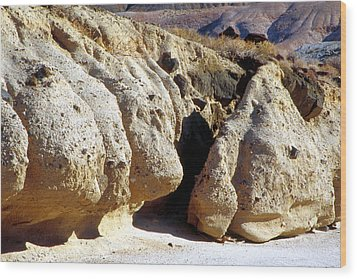 Sandstone Erosions Dry River Bed Wood Print