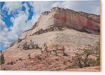 Wood Print featuring the photograph Sandstone Mountain by John M Bailey