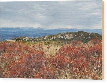 Sandstone Peak Fall Landscape Wood Print by Kyle Hanson