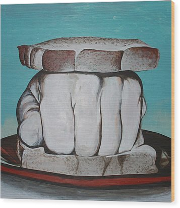 Sandwich Of The Day Wood Print by Kate Tesch
