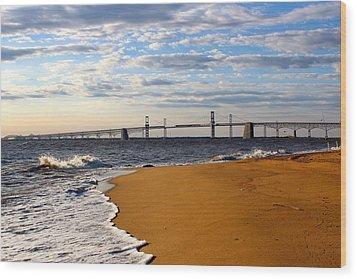 Sandy Bay Bridge Wood Print by Jennifer Casey