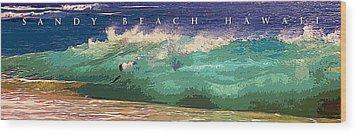 Sandy Beach Hawaii Wood Print by Ron Regalado