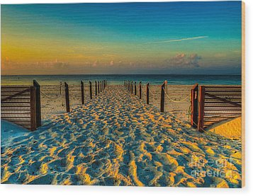 Wood Print featuring the photograph Sandy Beach by Maddalena McDonald