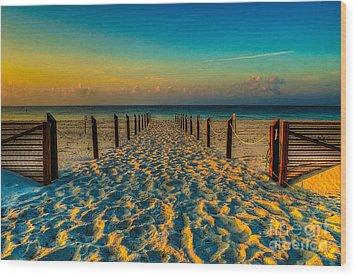 Sandy Beach Wood Print