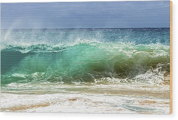 Sandy Beach Shorebreak 1 Wood Print