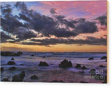 Sandy Beach South Shore Oahu Hawaii Wood Print by Leslie Kirk