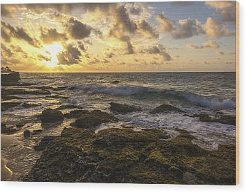 Sandy Beach Sunrise 11 - Oahu Hawaii Wood Print by Brian Harig