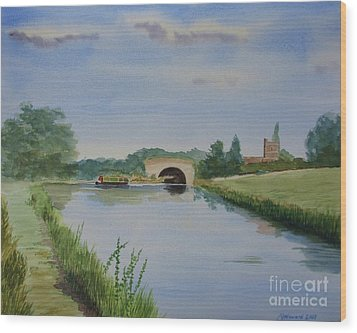 Wood Print featuring the painting Sandy Bridge by Martin Howard
