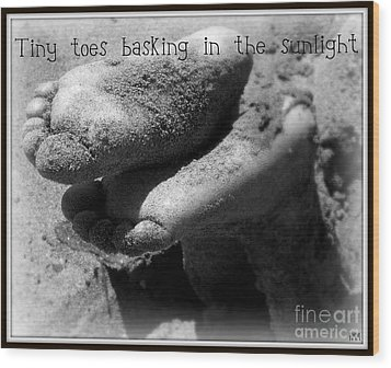 Wood Print featuring the photograph Sandy Feet by Heidi Manly
