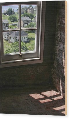 Sandy Hook View From The Lighthouse Wood Print by Gary Slawsky
