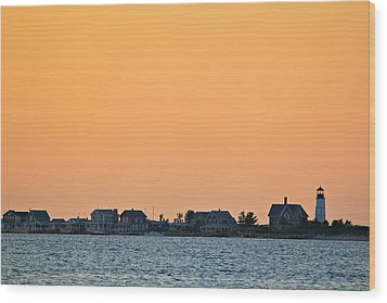 Wood Print featuring the photograph Sandy Neck Lighthouse by Amazing Jules