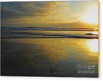 Sandy Reflections Wood Print
