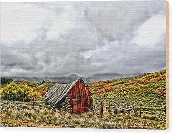 Sangre De Cristos Wood Print by Rebecca Adams
