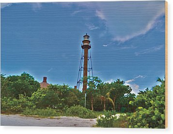 Wood Print featuring the photograph Sanibel Island Lighthouse by Timothy Lowry