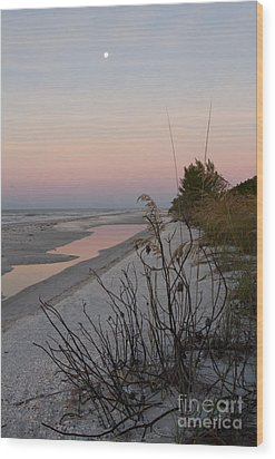 Sanibel Moonrise Wood Print