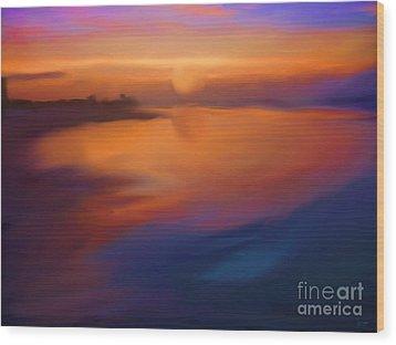 Sanibel Sunrise Wood Print by Jeff Breiman