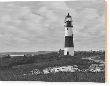 Sankaty Head Lighthouse Nantucket Cape Cod Wood Print