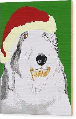 Santa Bailey Wood Print