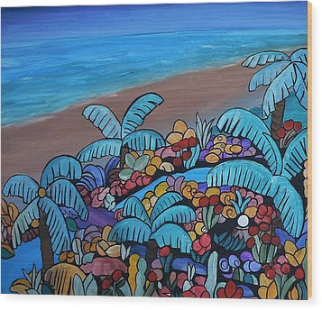 Santa Barbara Beach Wood Print