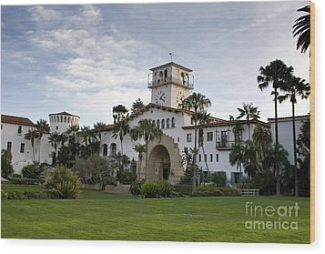 Wood Print featuring the photograph Santa Barbara by David Millenheft