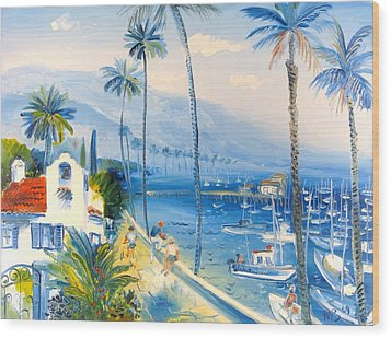 Santa Barbara Harbor Wood Print
