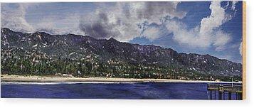 Santa Barbara Panorama Wood Print by Danuta Bennett