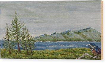 Wood Print featuring the painting Santa Barbara Sentinel  by Susan Culver