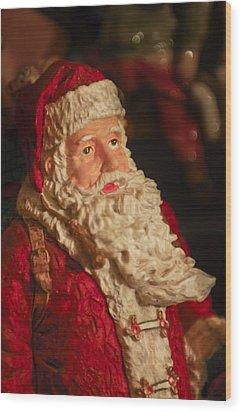 Santa Claus - Antique Ornament - 01 Wood Print by Jill Reger