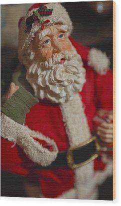 Santa Claus - Antique Ornament - 02 Wood Print by Jill Reger