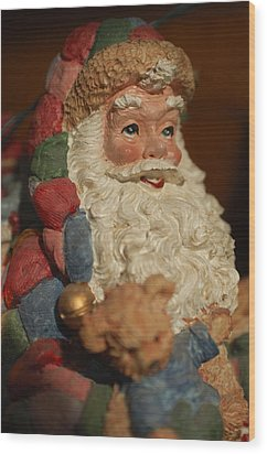 Santa Claus - Antique Ornament - 09 Wood Print by Jill Reger